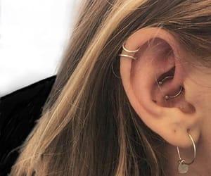 earrings, syden, and earpiercing image
