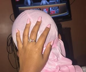 nails, durag, and pink image