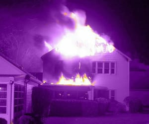 purple, aesthetic, and flame image