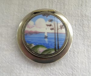 etsy, powder compact, and vintage vanity image