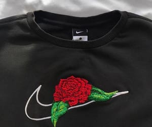 nike, rose, and fashion image