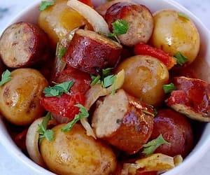 casserole recipe and bratwurst sausage image