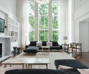 living room, white, and luxury image