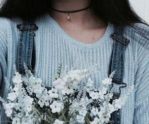 flowers, blue, and aesthetic image