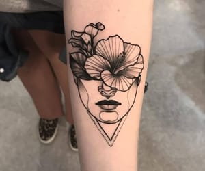 tattoo, woman, and art image