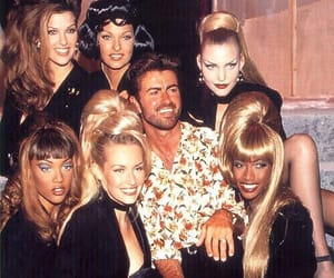 george michael, 90s, and girl image
