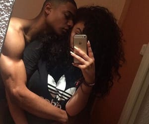couples, black love, and so cute image