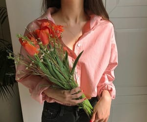 outfit, flowers, and girl image