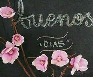 blackboard, buenos días, and frases image
