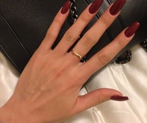 nails, red, and ring image