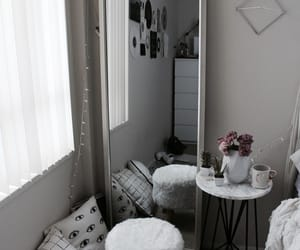 room, decor, and mirror image