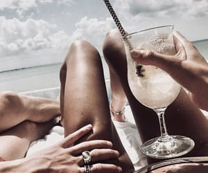 beach, body, and drink image