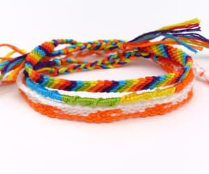 bracelet, rainbow colors, and beach bracelet image