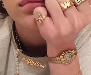 gold, jewelry, and watch image