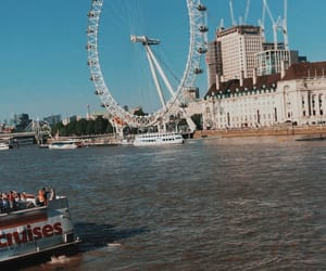 blue, london, and water image
