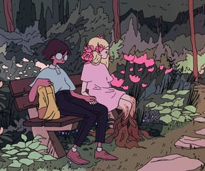 cute art, lo-fi, and witch art image