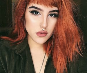 bangs, ginger hair, and girls image