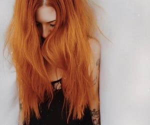 colored hair, ginger hair, and hair dye image