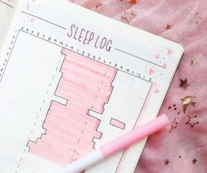pink, bujo, and sleep log image