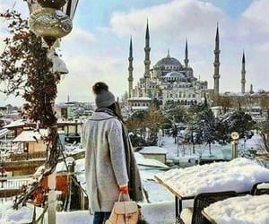 mosque, snow, and turkey image