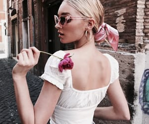 elsa hosk, model, and flowers image
