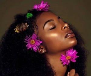 flowers, melanin, and beauty image