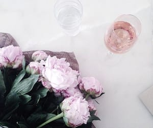 flowers, pink, and drink image