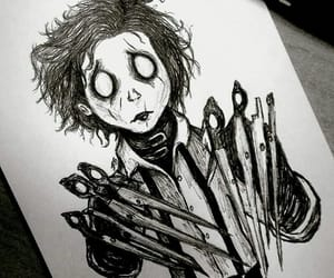 art, timburton, and edwardscissorhands image