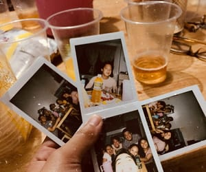 drinks, loves, and polaroid image