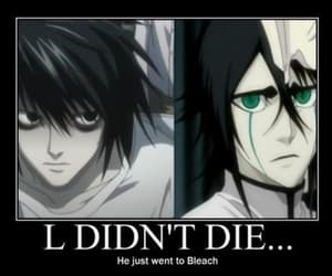 bleach, death note, and L image