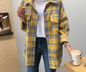 clothing, outfit, and yellow image