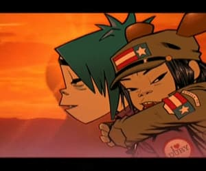 gif, 2-d, and gorillaz image