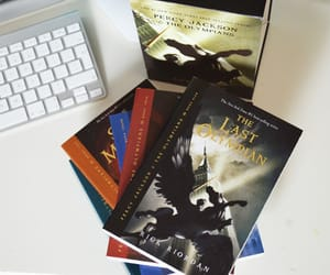 books, colors, and percy jackson image
