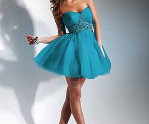dress, party, and blue image
