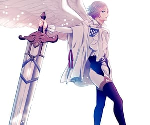 angel, blue, and boy image