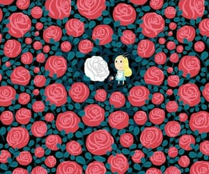 roses and alice in the wonderland image