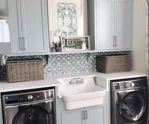 farmhouse, laundry room, and laundry room designs image