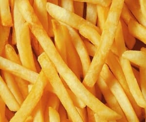 food, fries, and wallpaper image