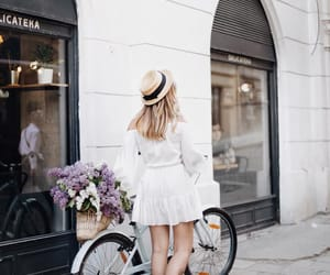 city, flowers, and fashion image