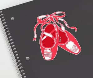 ballet, ballet shoes, and red image