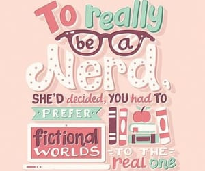 nerd, quote, and book image