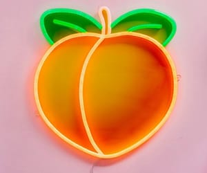 neon, peach, and aesthetic image