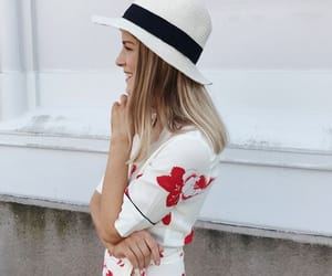fashion, floral dress, and hair image