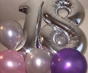 birthday, 18, and balloons image