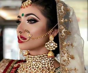 nose ring, indian bride, and muslim bride image