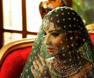 veil, indian bride, and muslim bride image