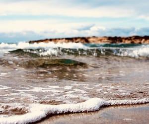 beach, pretty, and bubbles image