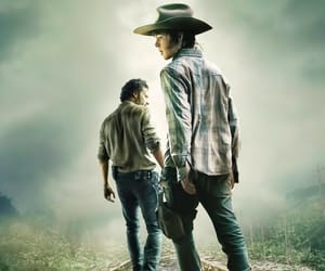father and son, the walking dead, and rick grimes image