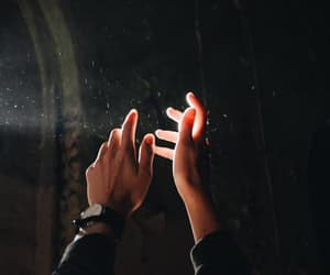 light and hands image
