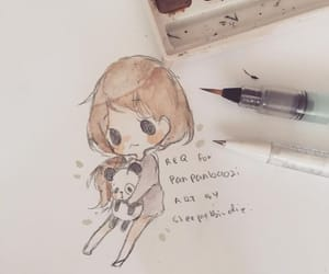 chibi, drawing, and sweet image